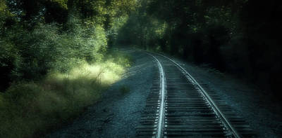 Digital Art - Tracks Through Time by Elijah Knight