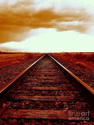 Photograph - Marfa Texas America Southwest Tracks To California by Michael Hoard
