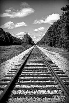 Photograph - Tracks To Forever Railroad Right Of Way by Reid Callaway
