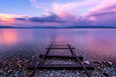 Print featuring the photograph Tracks To Tahoe by Brad Scott