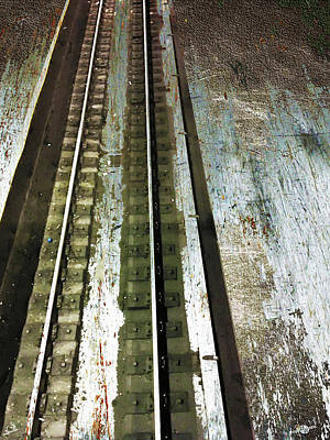 Mixed Media - Tracks by Tony Rubino