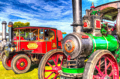 Photograph - Traction Engine And Steam Lorry Art by David Pyatt