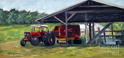 Painting - Tractor At Rest by Shelley Koopmann