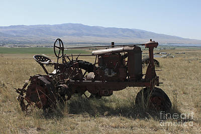 Montana Photograph - Tractor by Carolyn Brown