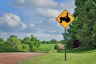 Photograph - Tractor Crossing - Rural Road - Nebraska by Nikolyn McDonald