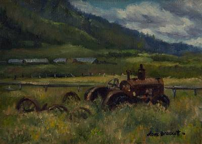 Painting - Tractor From Swan Valley by Lori Brackett