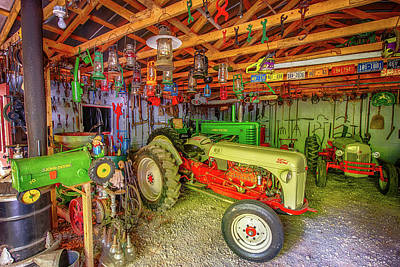 Mail Box Photograph - Tractor Garage by Paul Freidlund