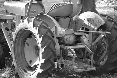 Tractor In Black And White  Art Print by Peter  McIntosh