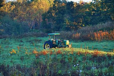 Photograph - Tractor In Morning Light by Kathryn Meyer