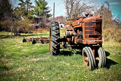 Tractor In The Country Art Print
