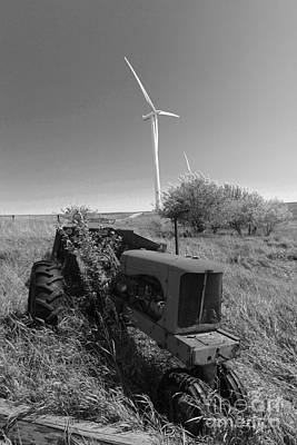 Tractor In The Wind Art Print