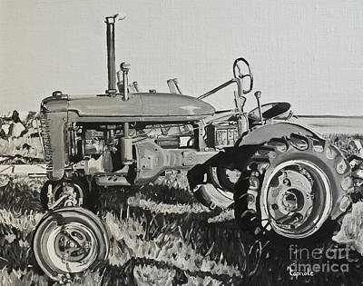 Painting - Tractor by Mary Capriole