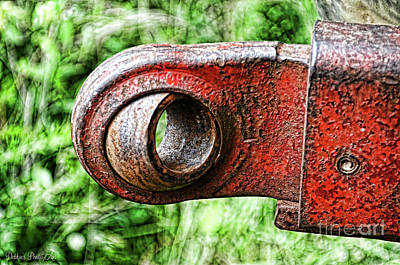 Photograph - Tractor Parts, Ball Joint, Gritty by Debbie Portwood