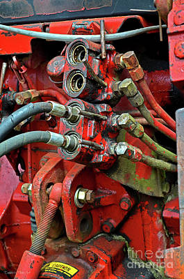 Photograph - Tractor Parts, Hydraulics by Debbie Portwood