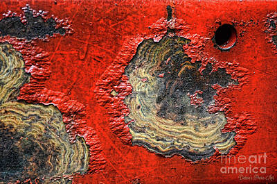 Photograph - Tractor Parts, Paint Decay, Gritty by Debbie Portwood