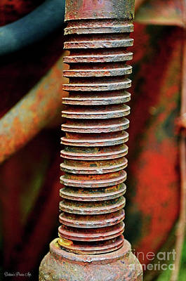 Photograph - Tractor Parts, Screw by Debbie Portwood