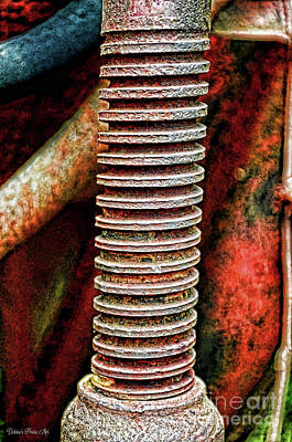 Photograph - Tractor Parts, Screw, Gritty by Debbie Portwood