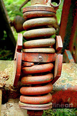 Photograph - Tractor Parts, Spring by Debbie Portwood