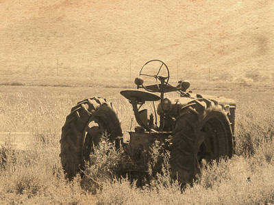 Photograph - Tractor Postcard by David King