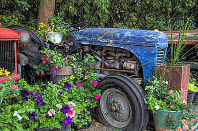 Photograph - Tractor Retirement by Kathy Bassett