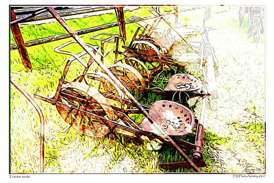 Tractor Seats Art Print