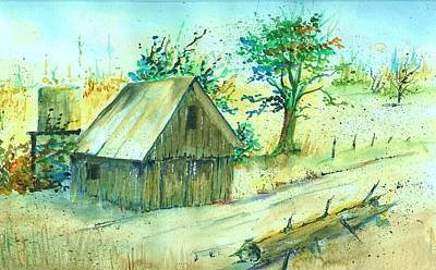 Tractor Shed Original by David Patrick