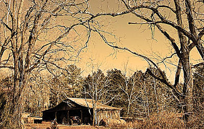 Tractor Shed Print by Patricia Motley