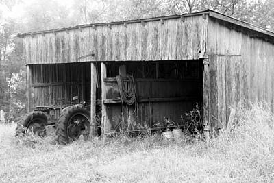 Tractor Shed Art Print