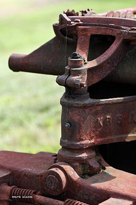 Photograph - Tractor Steering Linkage by Mark Alesse