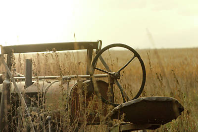 Photograph - Tractor Sunrise by Troy Stapek