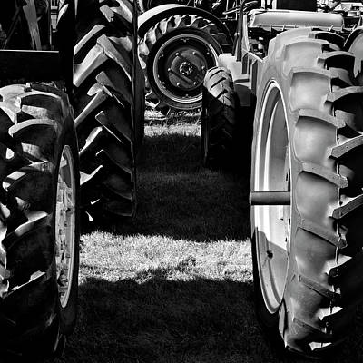 Photograph - Tractor Tire Lineup by Luke Moore