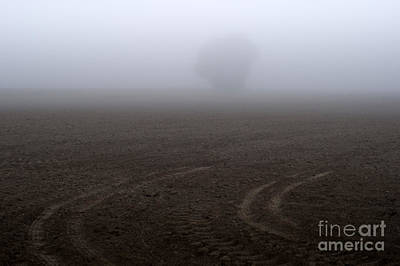 Photograph - Tractor Tracks In Field  by Jim Corwin