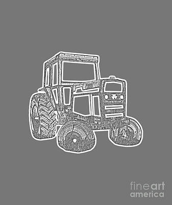 Tractor Transparent Print by Edward Fielding