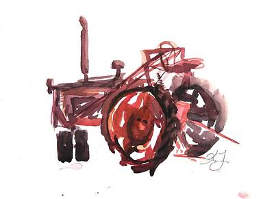 Langlois Painting - Tractor Vignette by Kelsey Langlois