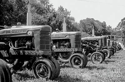 Print featuring the photograph Tractors by Brian Jones