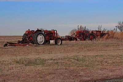 Photograph - Tractorsa by Alan Skonieczny