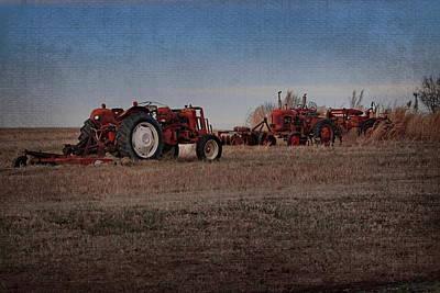 Photograph - Tractorsb by Alan Skonieczny