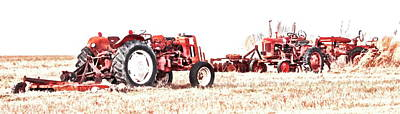 Photograph - Tractorsg by Alan Skonieczny