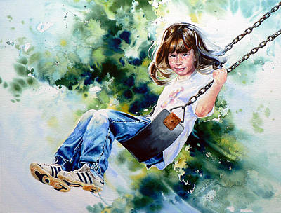 Action Sports Art Painting - Tracy by Hanne Lore Koehler