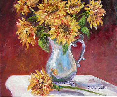 Tracy's Sunflowers Art Print