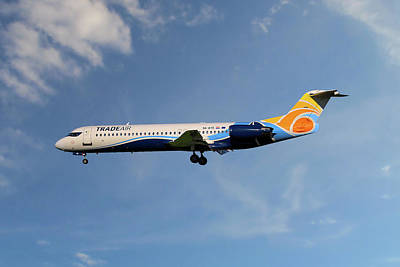 Photograph - Trade Air Fokker 100 by Nichola Denny