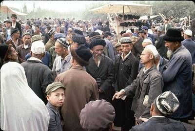 Keith Richards - Trade argument between people at the open air bazaar Kashgar, Xinjiang, China by Celestial Images