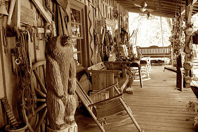 Aloha For Days - Traders Porch Sepia by John Myers