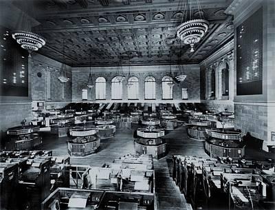 Trading Floor Of The Former New York Art Print by Everett
