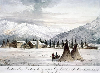 Territories Painting - Trading Outpost, C1860 by Granger