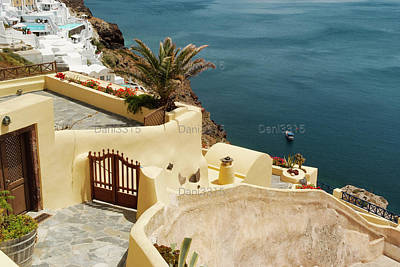 Landscapes Photograph - Traditional Architecture In Oia, Santorini, Greece by Dani Prints and Images