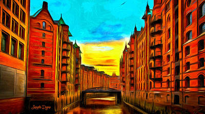 Apartment Painting - Traditional Buildings - Pa by Leonardo Digenio