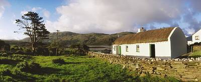 Remoteness Photograph - Traditional Cottage, Near Lough Rus by The Irish Image Collection