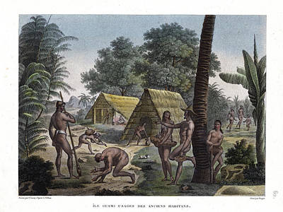 Drawing - Traditional Customs Of The Chamorro Classes by d Apres A Pellion