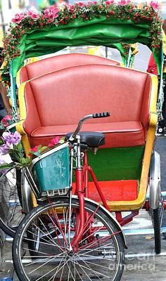 Photograph - Traditional Cycle Rickshaw In Taiwan by Yali Shi